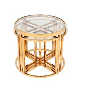 Sunset Nest Tables - Gold
