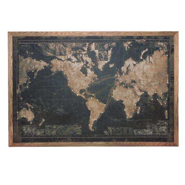 World map with lights black the interior designer world map gumiabroncs Images