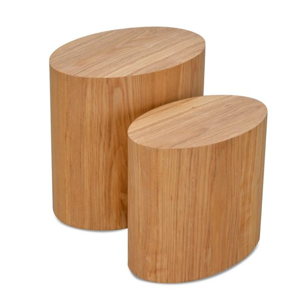 Albin Scandinavian Wooden Side Table -Natural