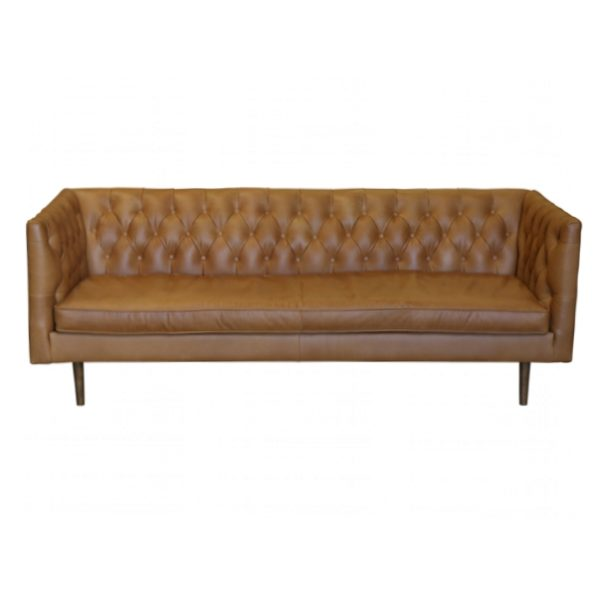 Abbey 3 Seat Sofa in Russet Leather