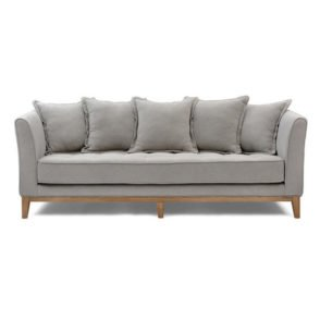 Beige/Taupe 3 Seater Sofa with Cushions
