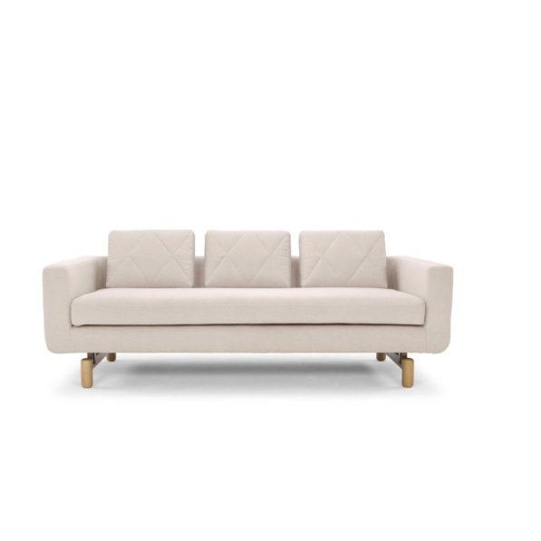 Zana Scandinavian Design 3 Seater Sofa - Natural