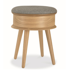 Asta Dressing Stool Scandinavian Design - Natural