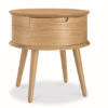 Asta Scandinavian Side Lamp Table with Drawer - Natural