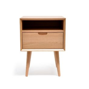 Asta Scandinavian Bedside Cabinet - Oak Finish