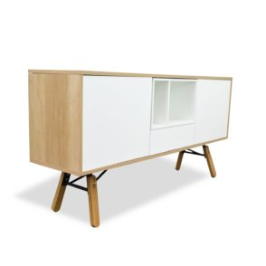 Scandinavian Style Sideboard with Drawers - Natural