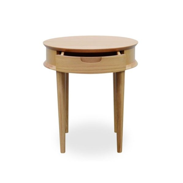 Johansen Scandinavian Lamp Table with Drawer - Natural