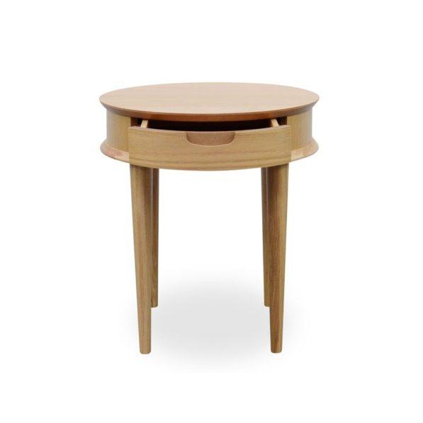 Johansen Scandinavian Lamp Table with Drawer - Natural