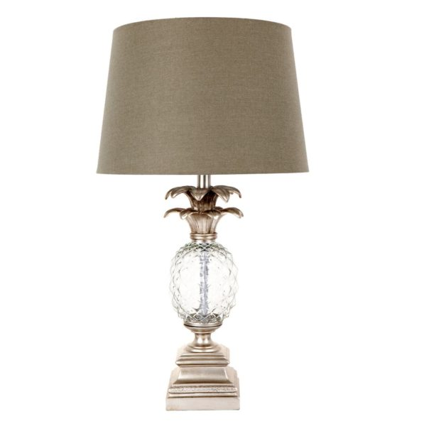 Langley Pineapple Table Lamp - Silver