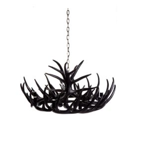 Antler 9 Arm Chandelier - Black