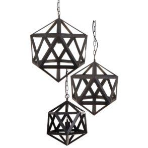 Staten Geometric Iron Pendant