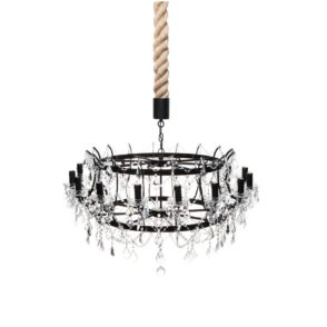 Scandinavian Louis XV Chandelier - Gold Brushed Iron