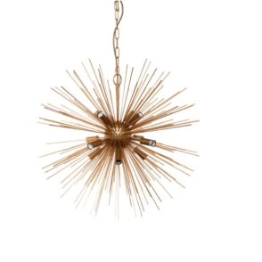 Sunburst Gold Iron Pendant