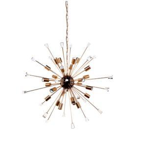 Sputnik Golden Rod Pendant