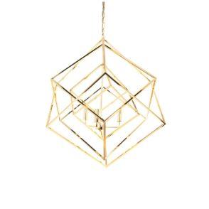 Tribecca Geometric Pendant - Gold