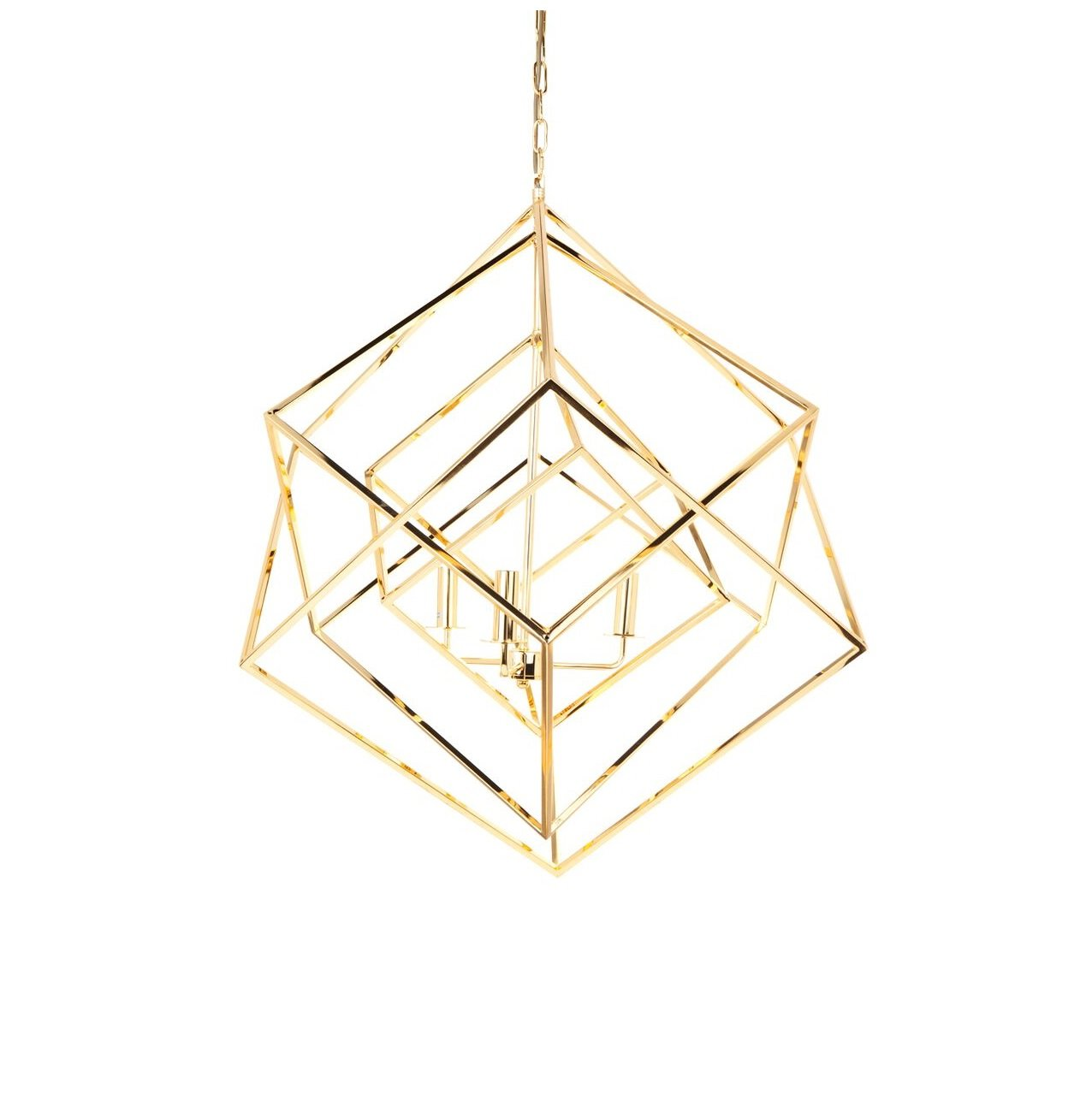pendant chrome in design polished geometric modern cage image contemporary ceiling