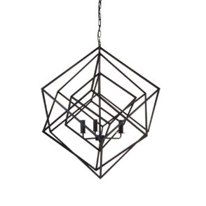 Tribecca Geometric Pendant - Black