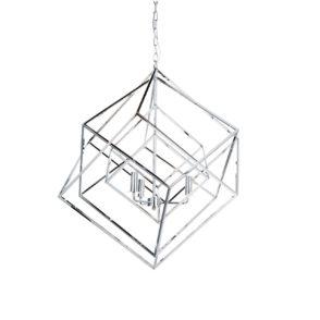Tribecca Geometric Pendant - Chrome