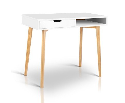Wooden Study Desk - White