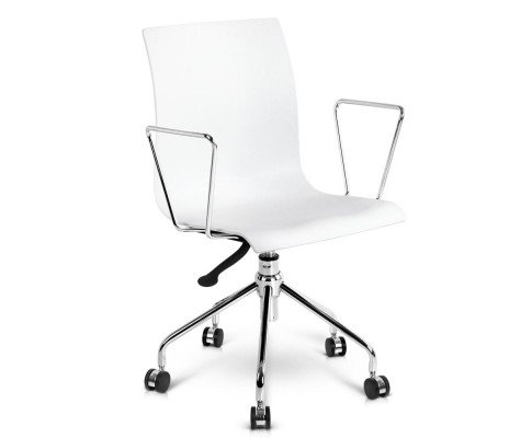 Office Chair With Armrests - White