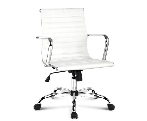 Replica Eames Leather Low Back Office Chair - White