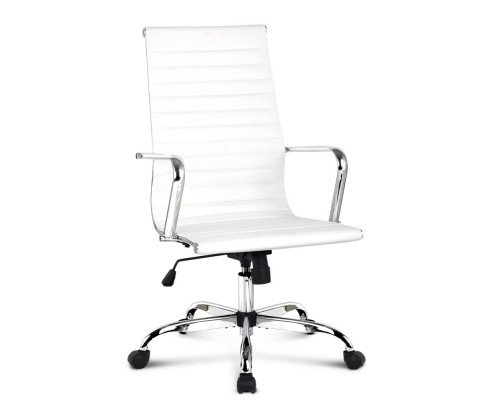 Replica Eames Leather High Back Office Chair - White