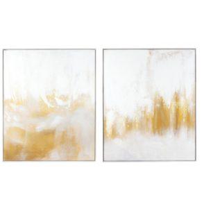Gold Lustre Metallic Oil Painting