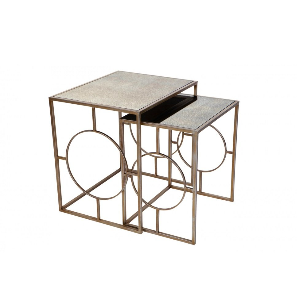 Melrose Mirror Top Nesting Tables