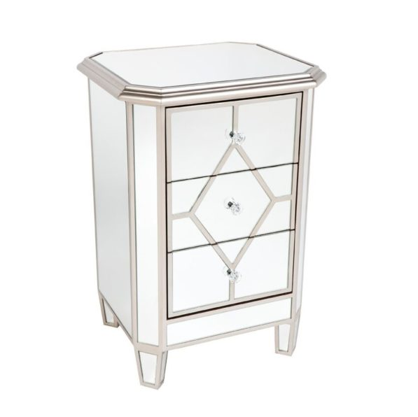 Kensington Mirrored Bedside Table