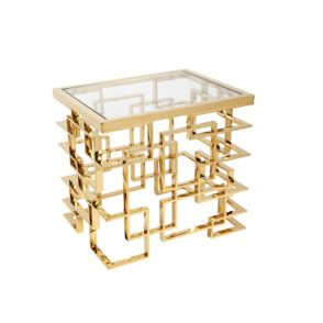 Mirrored Mulholland Side Table - Gold