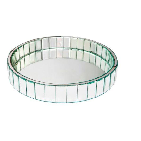 Carrington Round Mirrored Tray