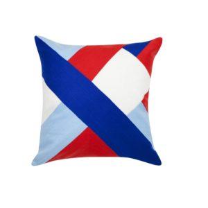 Striped Olsen Cushion - Blue
