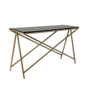 Marbled Top Console Table - Olive