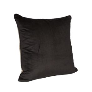 Feather Filled Caesar Cushion - Black