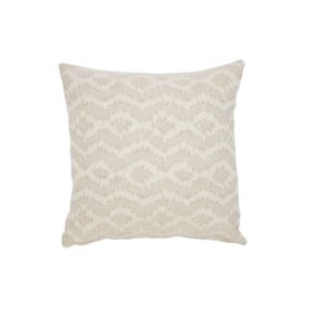 Diamond Patterned Cushion - Natural