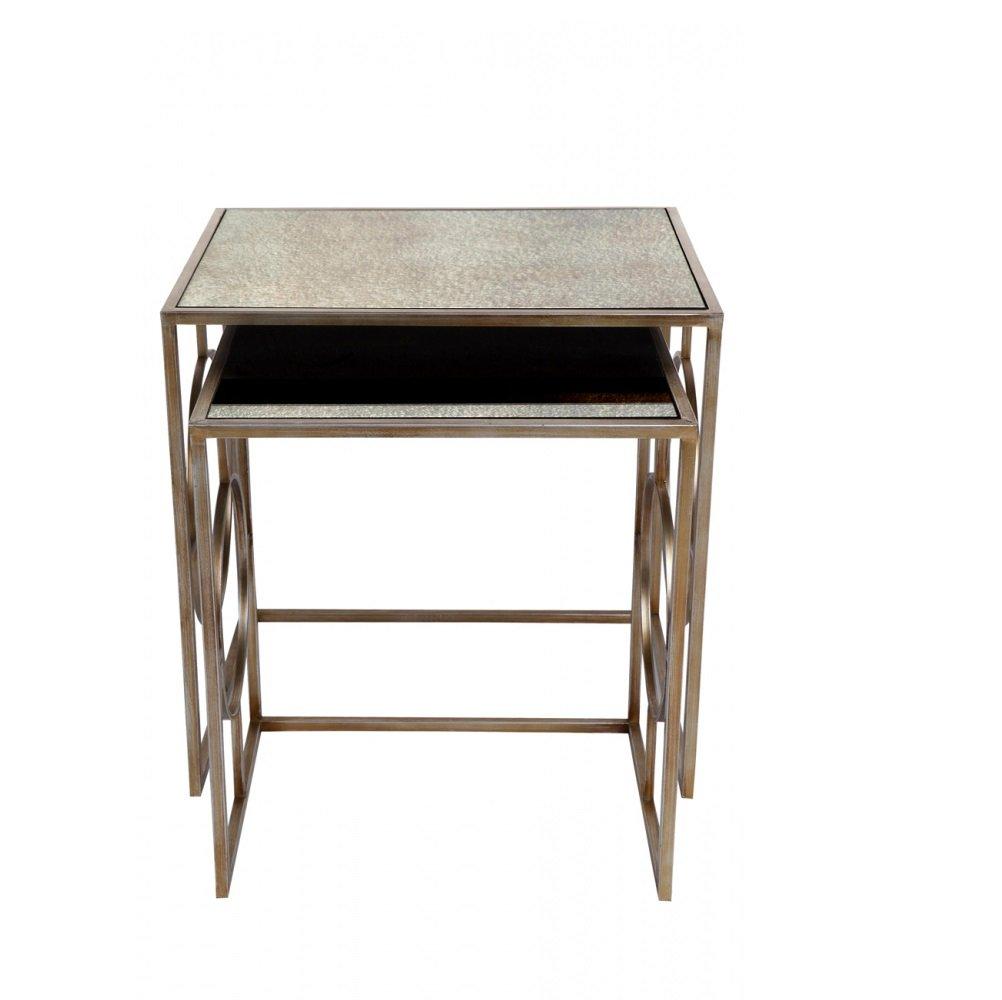 Melrose Mirror Top Nesting Tables The Interior Designer
