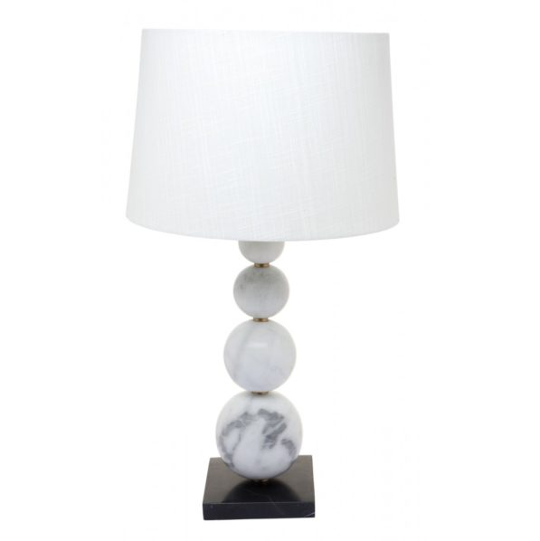 Marbled Wraith Table Lamp - White