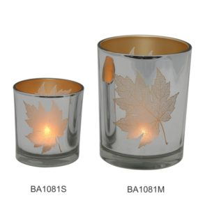 Silver and Gold Leaf Candleholder