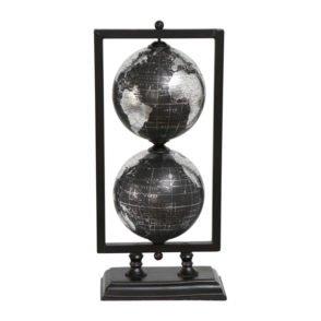 Black Metallic Globe Set