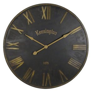 Black and Gold Kensington Clock