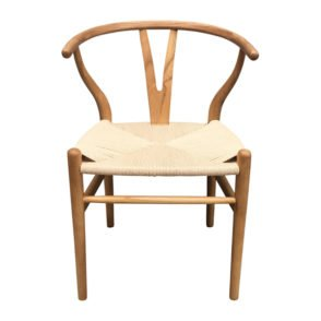 Elm Wood with Rope Seat Dining Chair