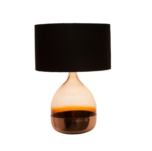 Shaynna B Copper Amber Lamp - Black Shade