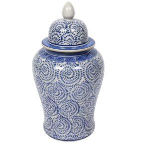 Montecito Temple Jar - Blue & White