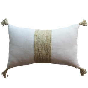 Jute Tassel Cushion - Natural