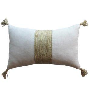 Jute Tassel Cushion - Natural