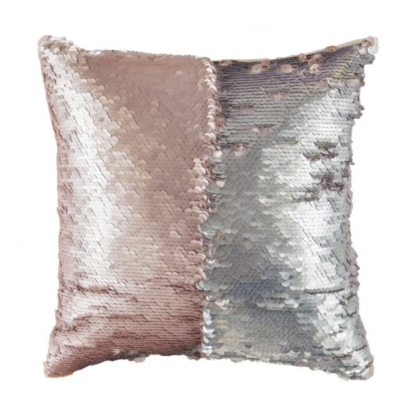 Mermaid Cushion in Silver & Rose Gold