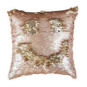 Mermaid Cushion - Blush & Gold