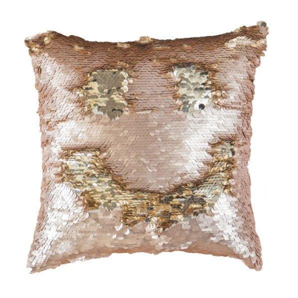 Mermaid Cushion - Blush & Gold