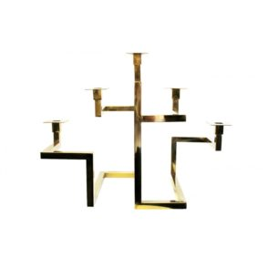 Tribecca Candle Holder - Gold