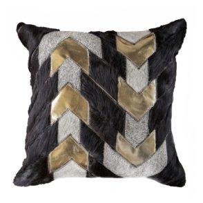Gold Leather Arrow Cushion